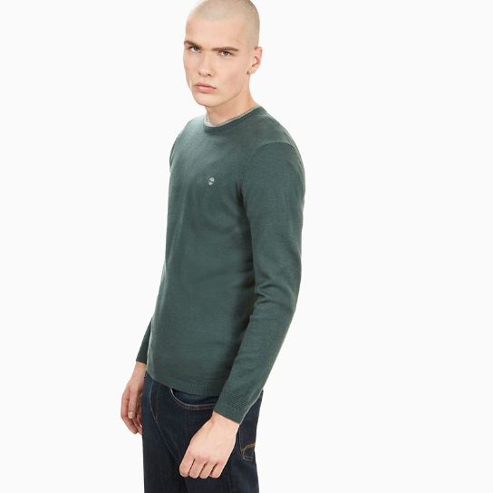 Jones Brook Crew Neck Merino Sweater Heren Groen | Timberland