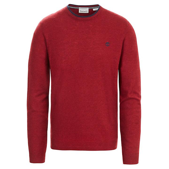 Jones Brook Crew Neck Merino Sweater Heren Rood-