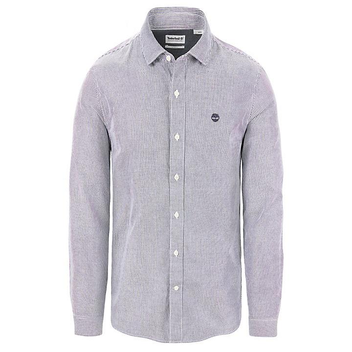 Camicia da Uomo a Righe Milford Blu Marino-