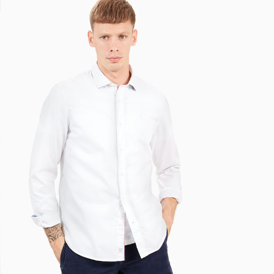 Milford Oxford Shirt for Men in White | Timberland