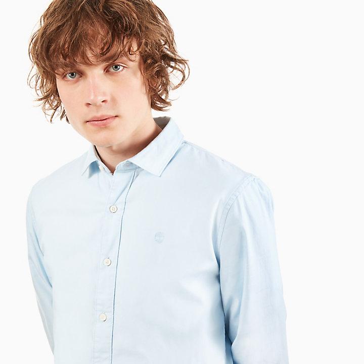 Milford Oxford Overhemd voor Heren in Blauw-