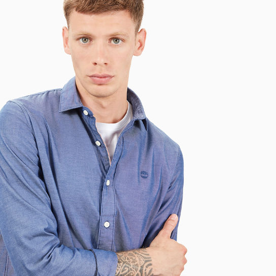 Milford Oxford Shirt for Men in Blue | Timberland