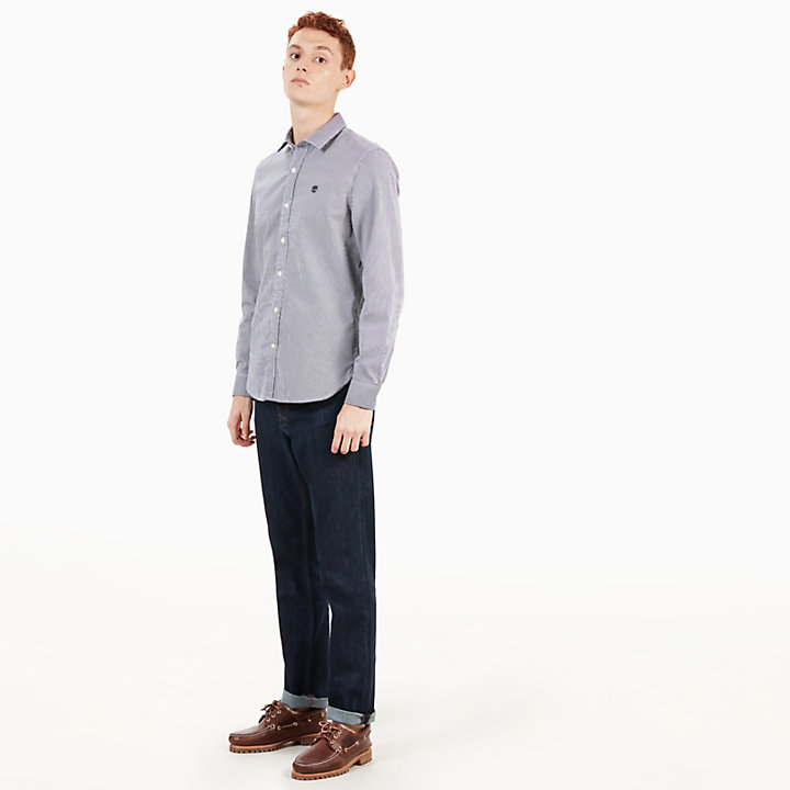 Milford Checked Shirt for Men in Navy-