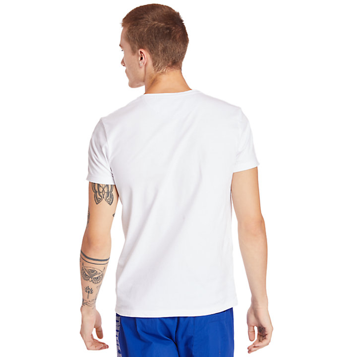 Dunstan River T-Shirt for Men in White-