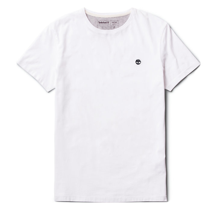 Dunstan River T-Shirt für Herren in Weiß-