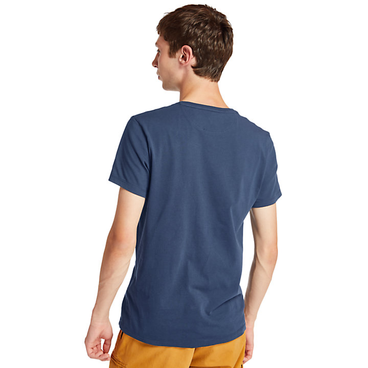 T-shirt da Uomo Dunstan River in blu scuro-