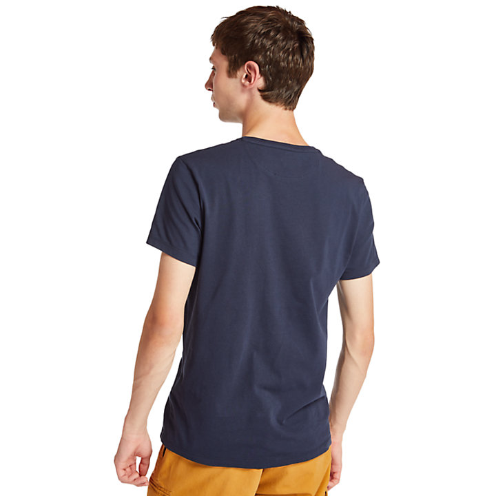 Dunstan River T-shirt voor Heren in marineblauw-