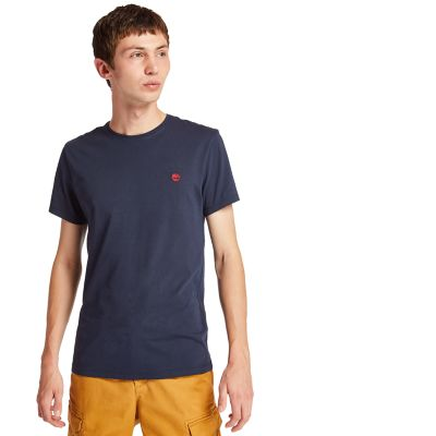 Dunstan+River+T-shirt+voor+Heren+in+Marineblauw