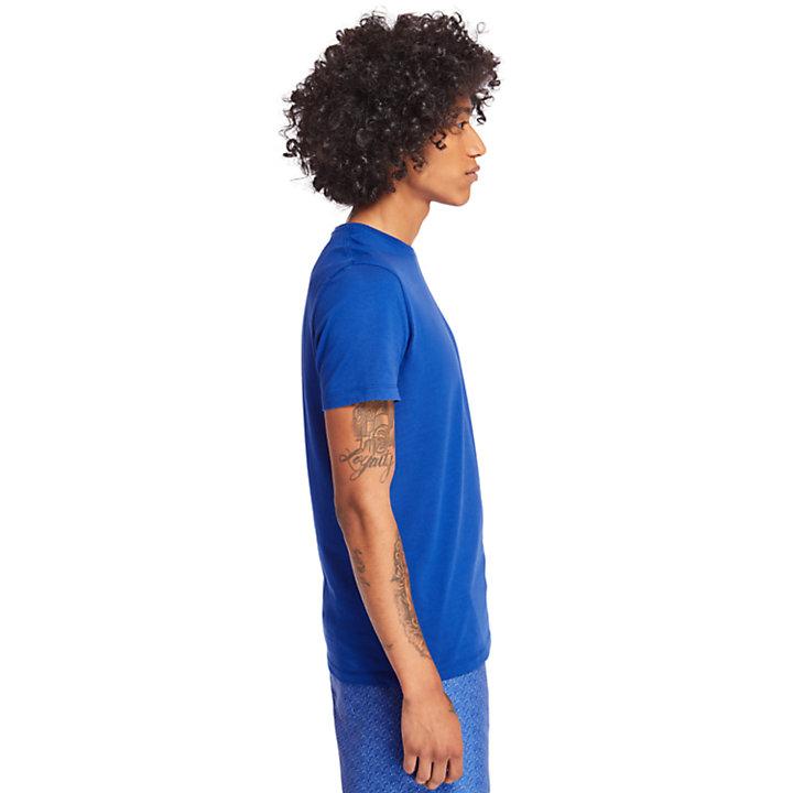 T-shirt da Uomo Dunstan River in blu-