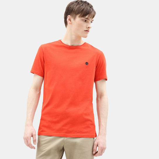 Dunstan River T-Shirt for Men in Orange | Timberland