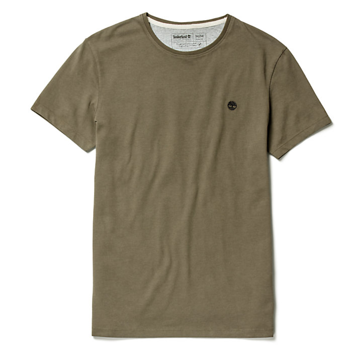 T-shirt da Uomo Dunstan River in marrone-