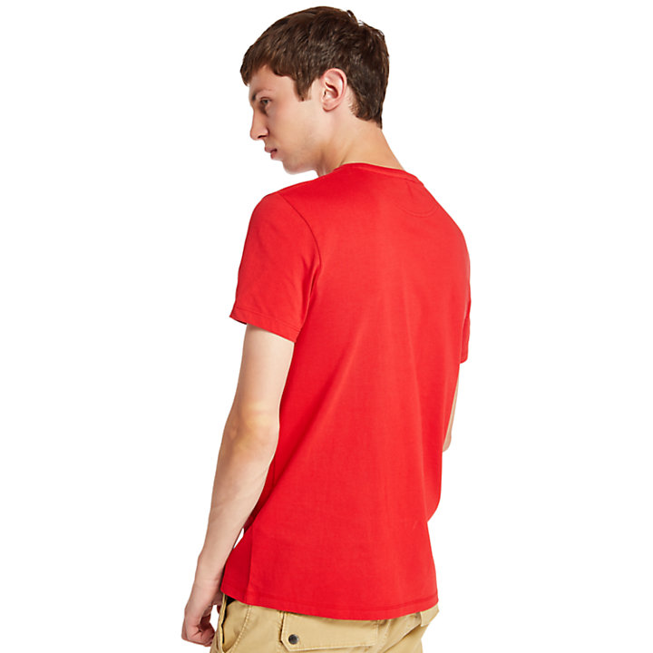 Dunstan River T-Shirt for Men in Red-