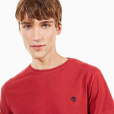 Dunstan+River+T-shirt+voor+Heren+in+Rood