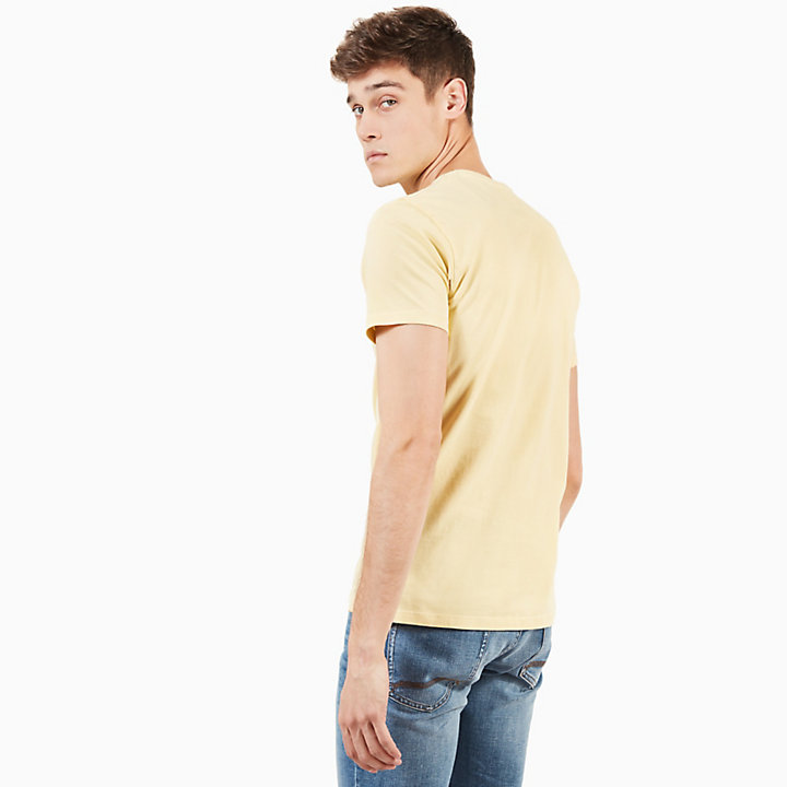 Dunstan River T-shirt for Men in Yellow-