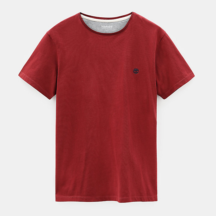 Dunstan River T-Shirt for Men in Burgundy-