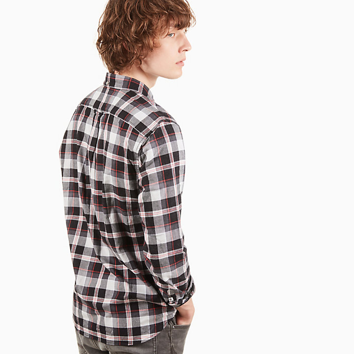 Back River Tartan Shirt for Men in Pale Grey-