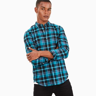Back+River+Tartan+Shirt+for+Men+in+Turquoise