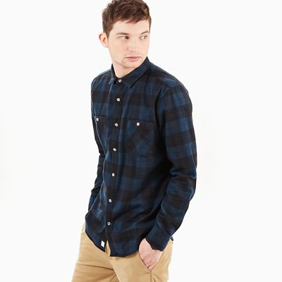 Back+River+Checked+Shirt+for+Men+in+Navy