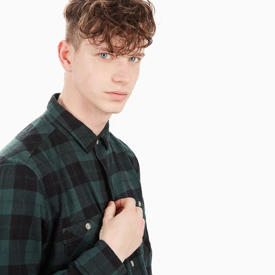 Back River Checked Shirt for Men in Green | Timberland