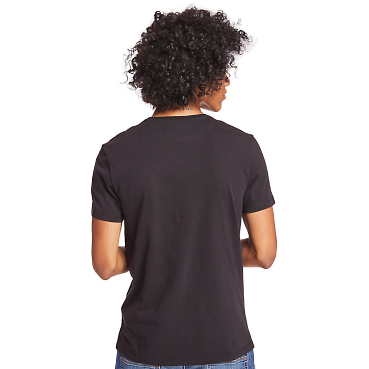 Dunstan River Pocket T-Shirt for Men in Black-