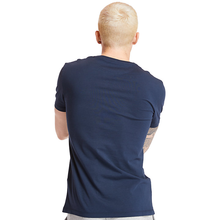 Dunstan River Pocket T-shirt Heren in Marineblauw-