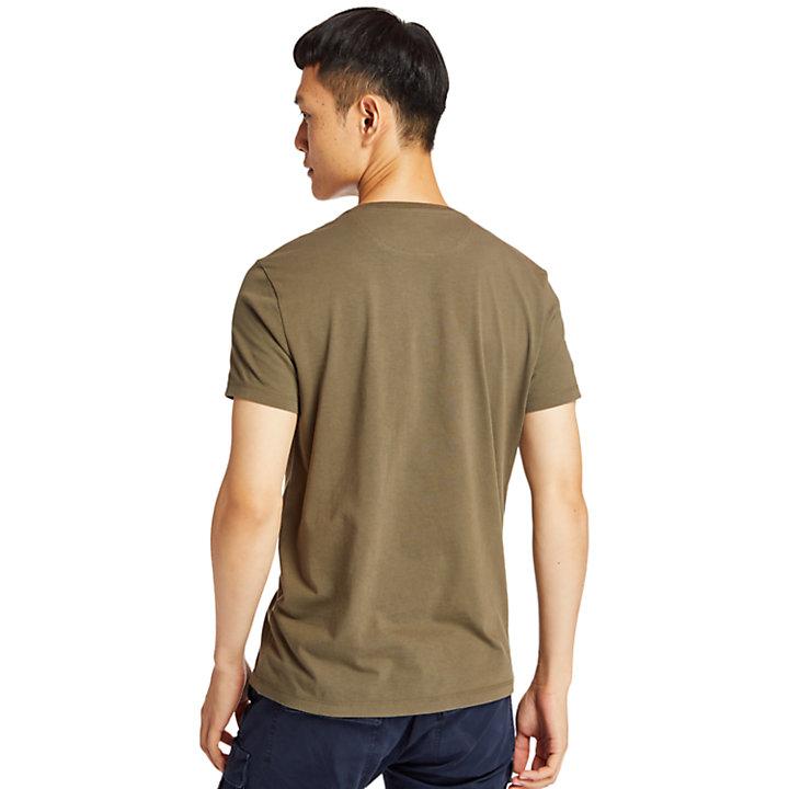 Camiseta con Bolsillo Dunstan River para Hombre en verde-