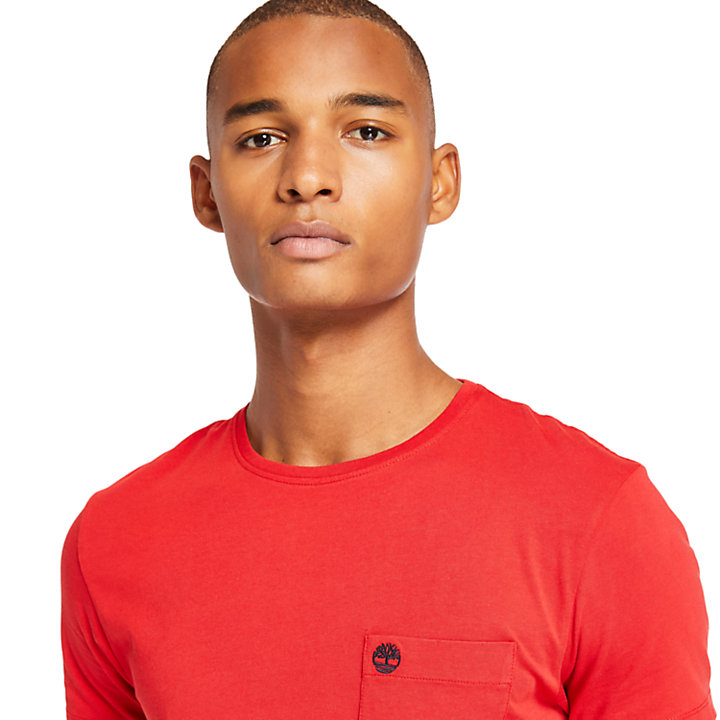 Dunstan River Pocket T-shirt voor Heren in rood-