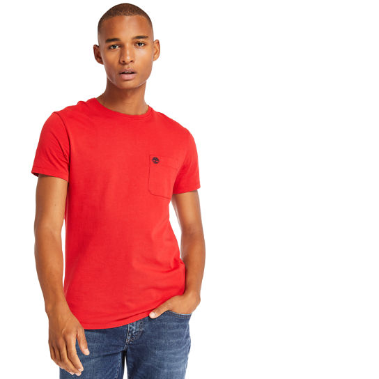 Dunstan River Pocket T-shirt voor Heren in rood | Timberland