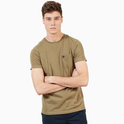 Dunstan+River+Pocket+T-Shirt+for+Men+in+Green