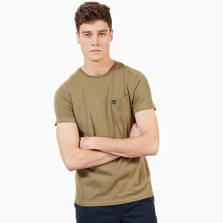 Dunstan River Pocket T-shirt Heren in Groen-