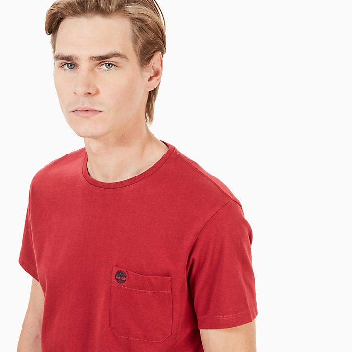 Dunstan River Pocket T-shirt Heren in Rood-