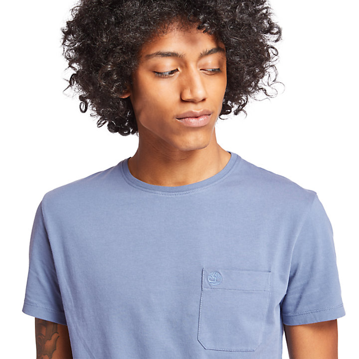 Dunstan River Pocket T-Shirt for Men in Blue-
