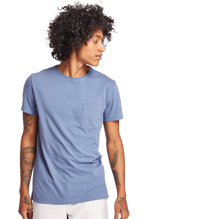 Dunstan River Pocket T-shirt voor Heren in blauw-