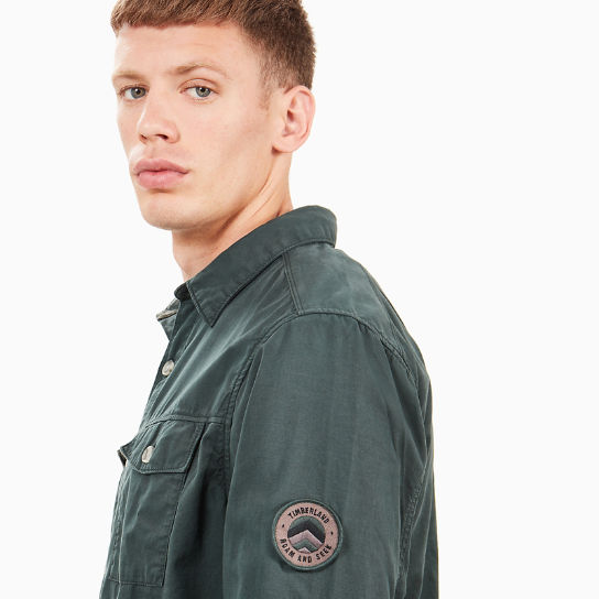 Utility Overshirt for Men in Dark Green | Timberland