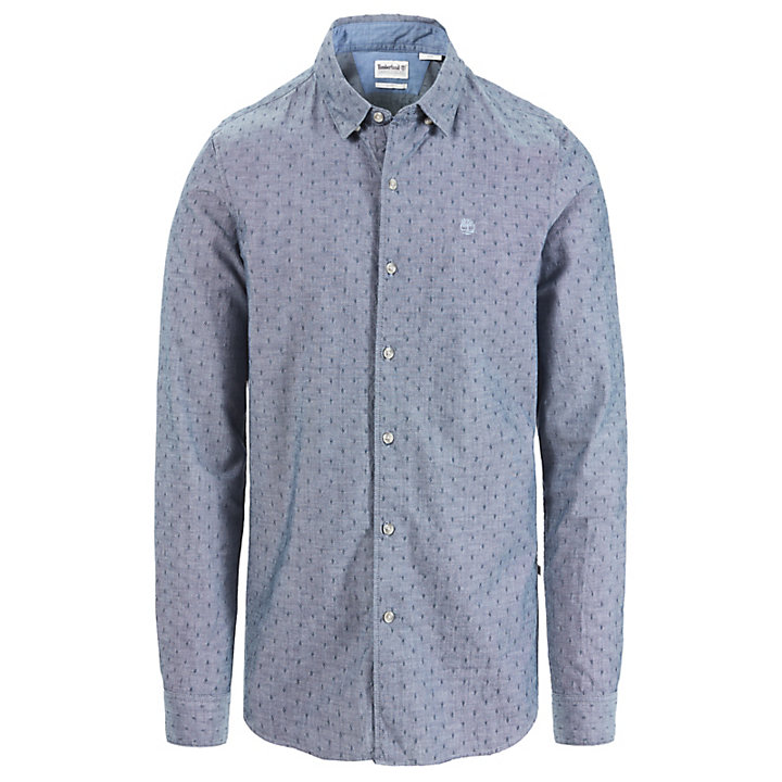 Tioga River Chambray Shirt for Men in Navy-
