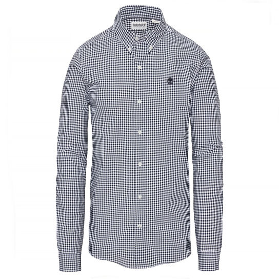 Suncook River Gingham Shirt Heren Marineblauw | Timberland