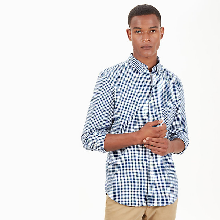 Camisa a Cuadros Vichy Suncook River para Hombre en Azul Marino-