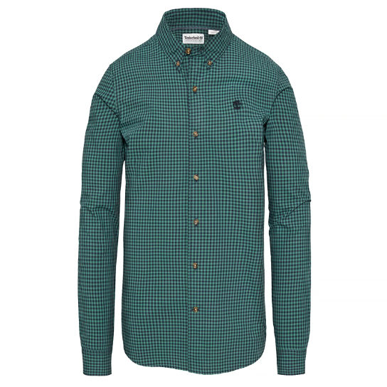 Men's Suncook River Gingham Shirt Green | Timberland