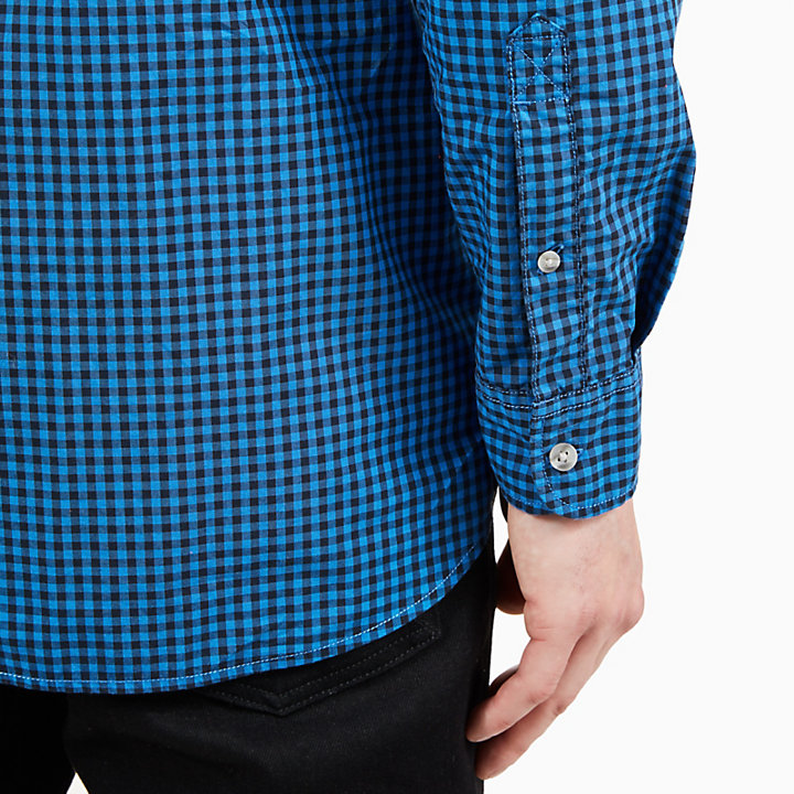 Suncook River Gingham Shirt for Men in Blue-