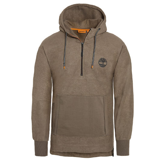 Oversized Hooded Sweatshirt Heren Beige | Timberland