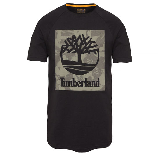 Men's Camo T-Shirt Black | Timberland