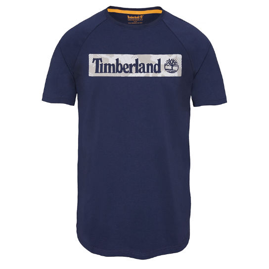 Men's Camo T-Shirt Navy | Timberland