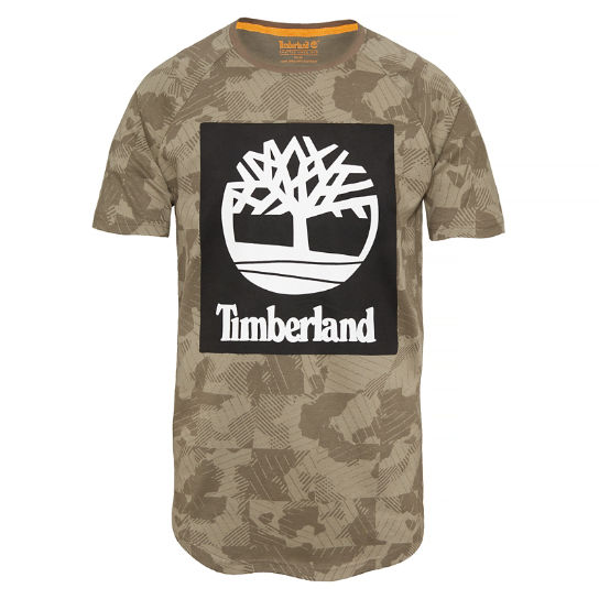 Men's Camo T-Shirt Grey | Timberland