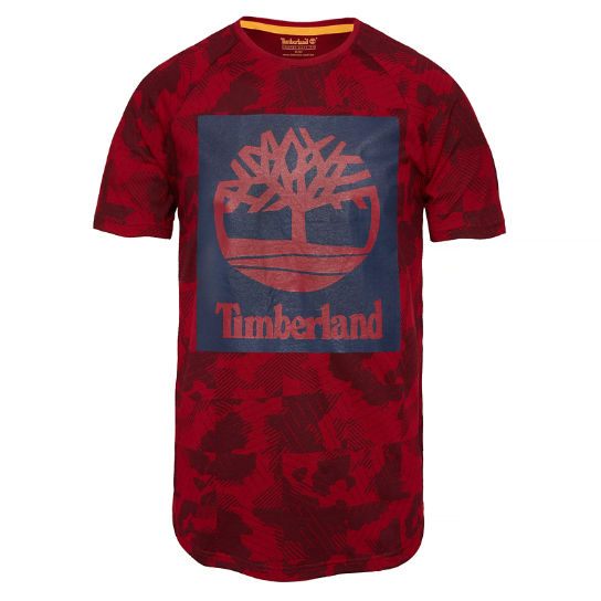 Men's Camo T-Shirt Red | Timberland