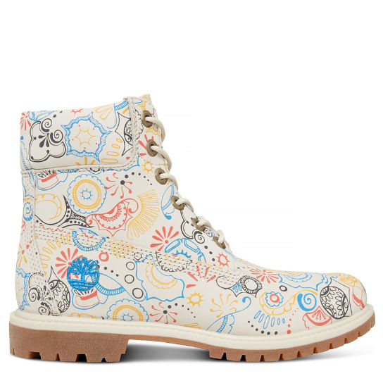 6-inch Boot Blanco Floral Mujer | Timberland