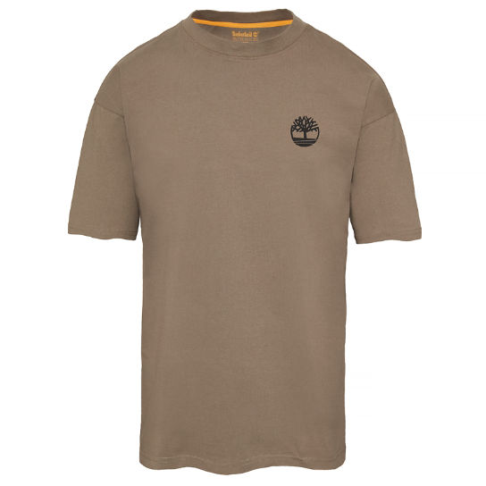 Men's Oversized T-Shirt Greige | Timberland