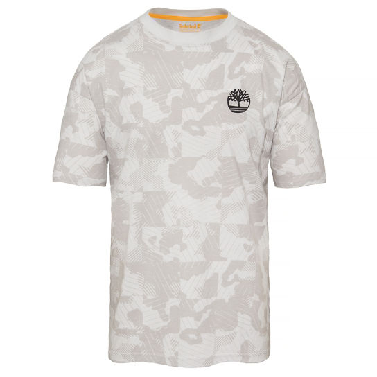 Men's Oversized T-Shirt Grey Camo | Timberland