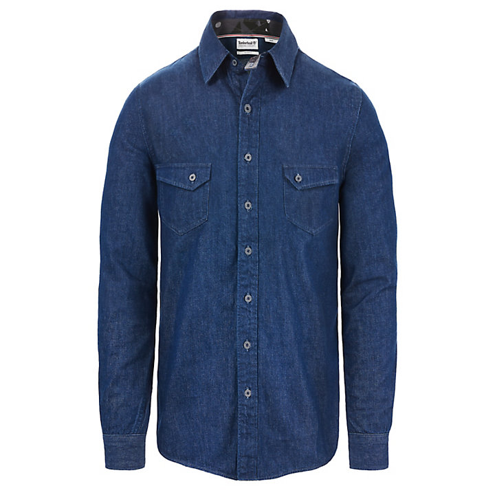Mumford River Denim Shirt for Men in Blue-