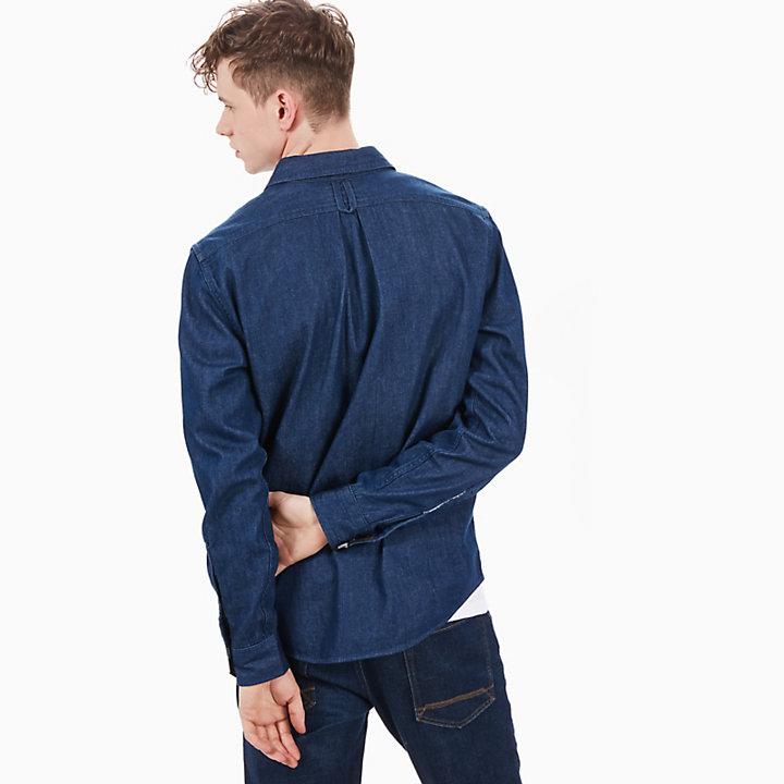 Camisa Vaquera Mumford para Hombre en Azul-