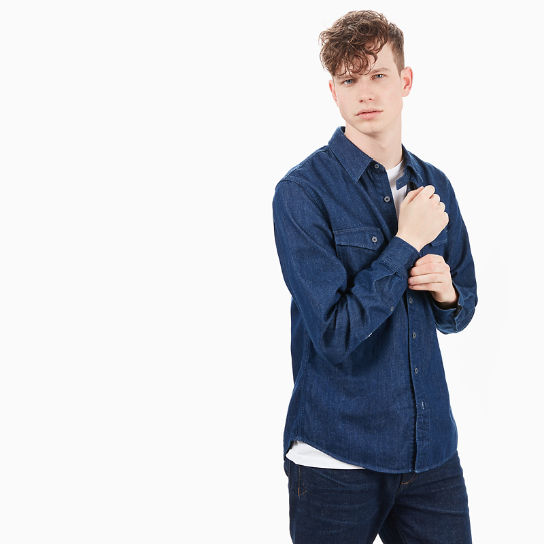 Mumford River Denim Shirt for Men in Blue | Timberland